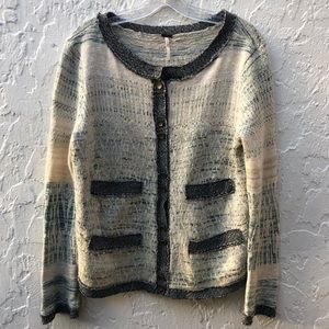 FREE PEOPLE Button Down Knit Cardigan Sweater